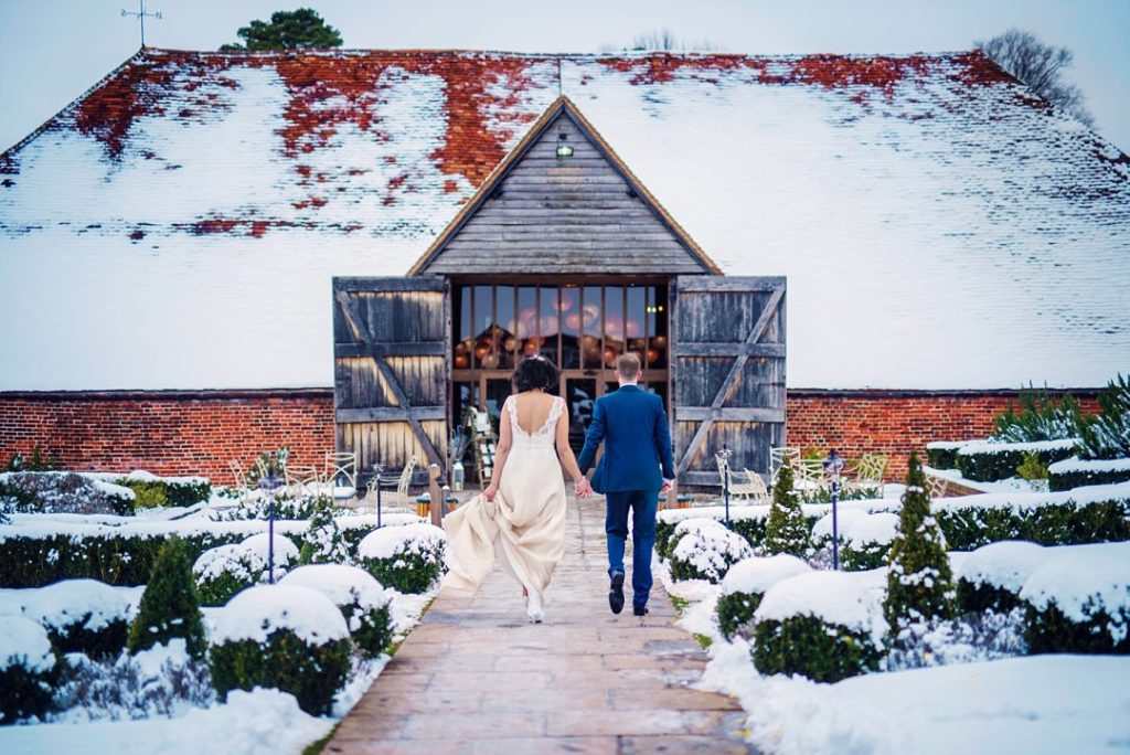 Snow Wedding in Ufton Court
