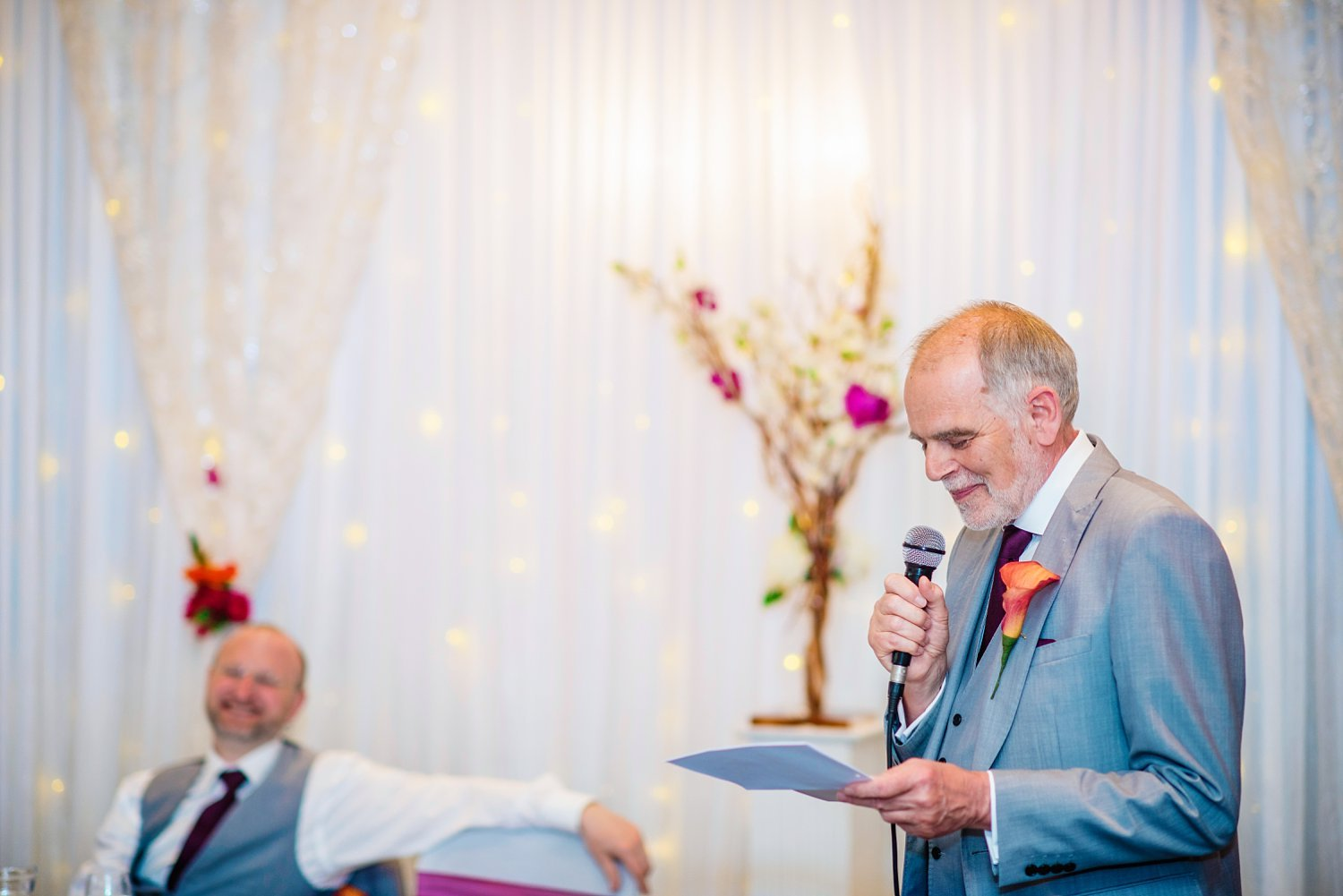 New Place Hotel Wedding - father of the bride's speech