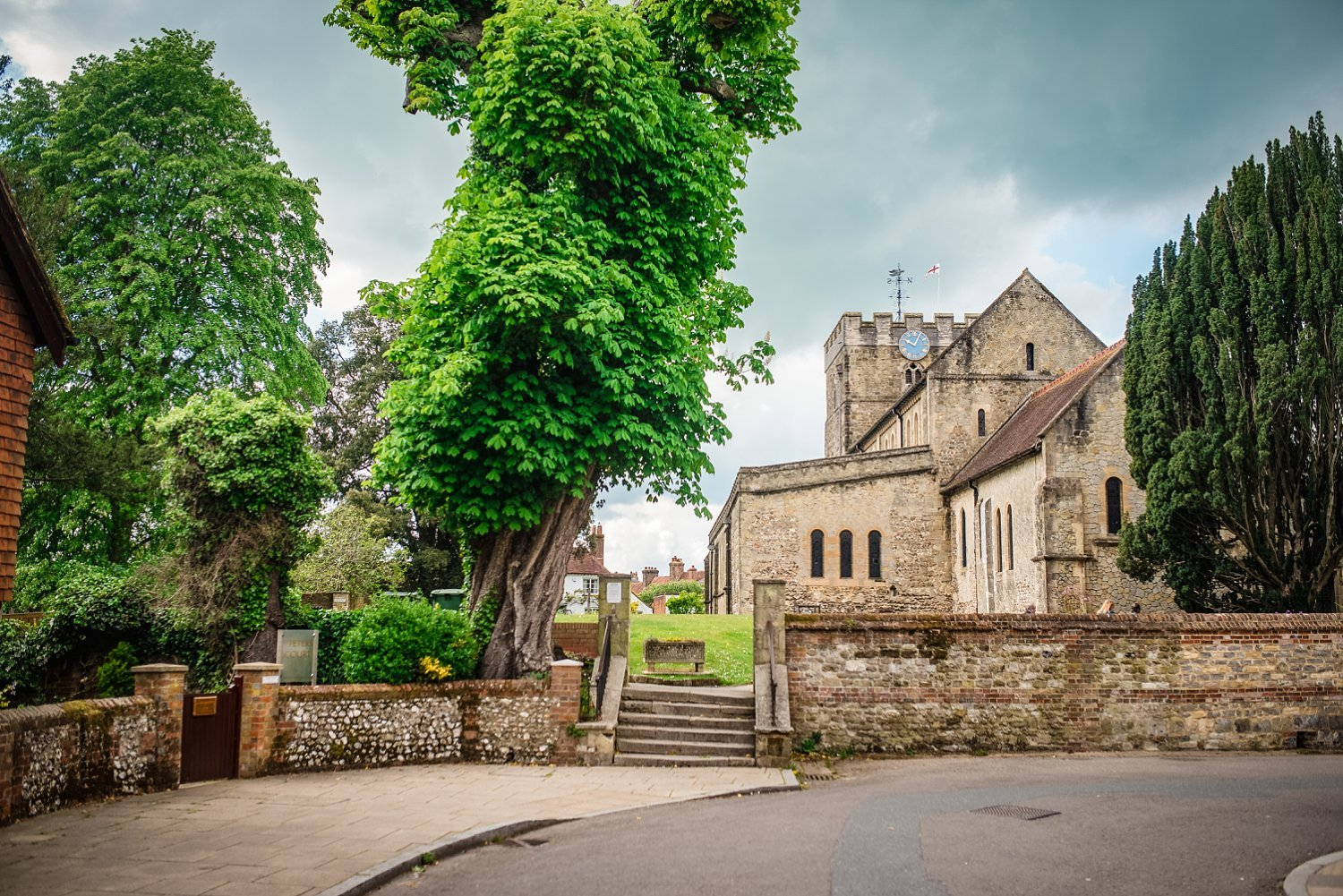 St Peter's Church in Petersfield, wedding ceremony had taken place there - Petersfield Wedding Photography