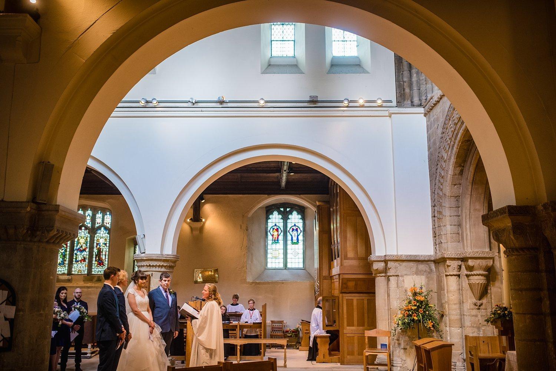 church ceremony - Petersfield Wedding Photography