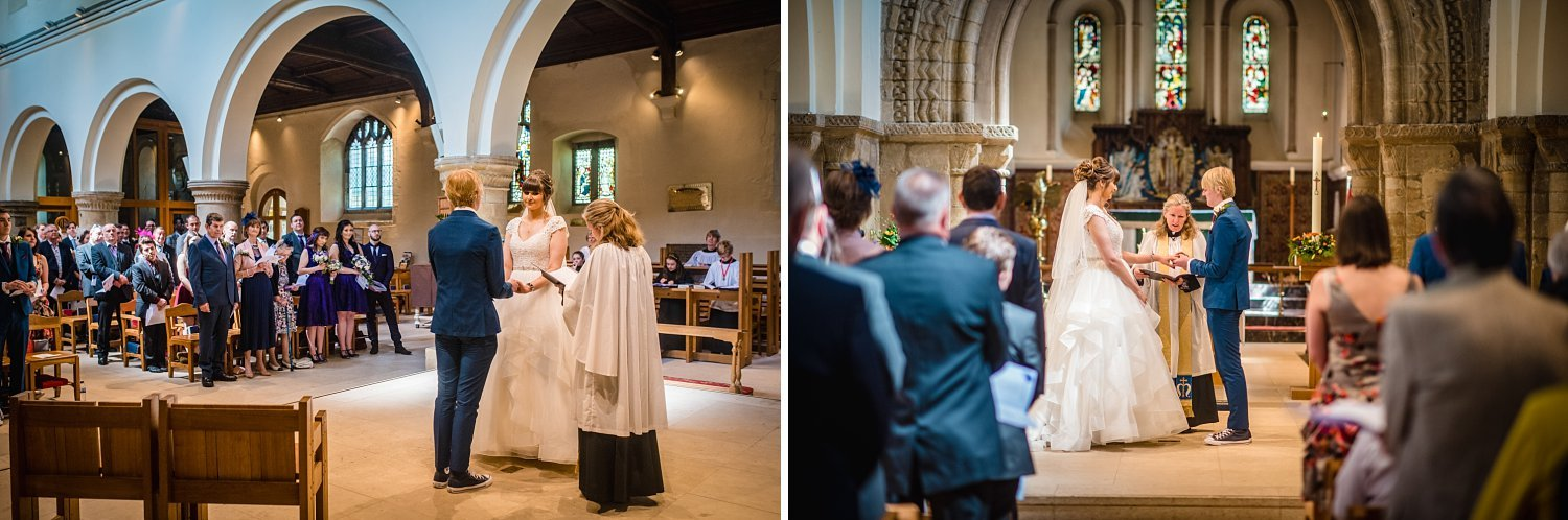 Petersfield Wedding Photography - exchange of rings