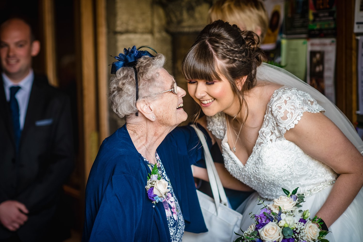 grandmother congratulating the bride- unposed moments- documentary wedding photography - Wedding in Petersfield