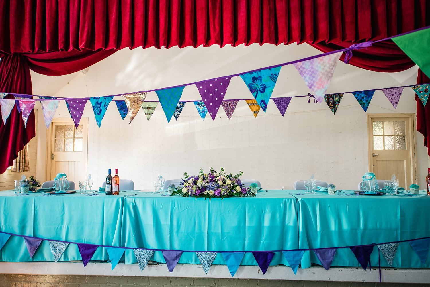 inside the Rogate Village Hall - Petersfield Wedding Photographer