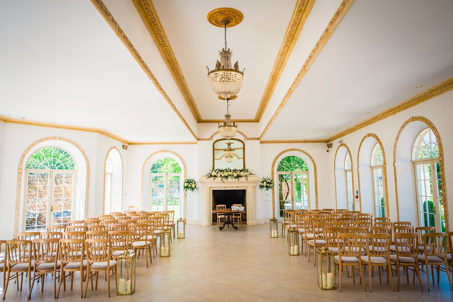 Northbrook Park Wedding - photo of the ceremony room