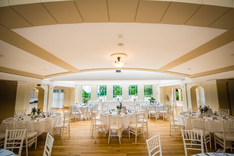 Fun-Filled wedding in Pembroke Lodge - wedding breakfast room