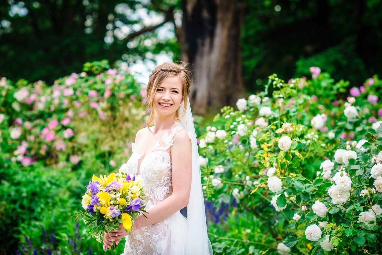 Fun-Filled wedding in Pembroke Lodge - bride smiling
