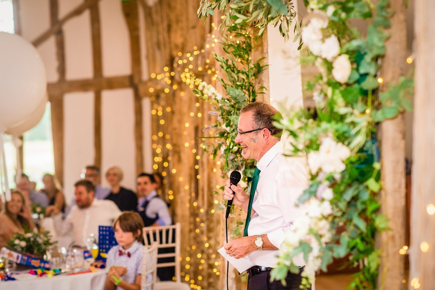Colville Hall Weding Photographer-father of bride is having a speech