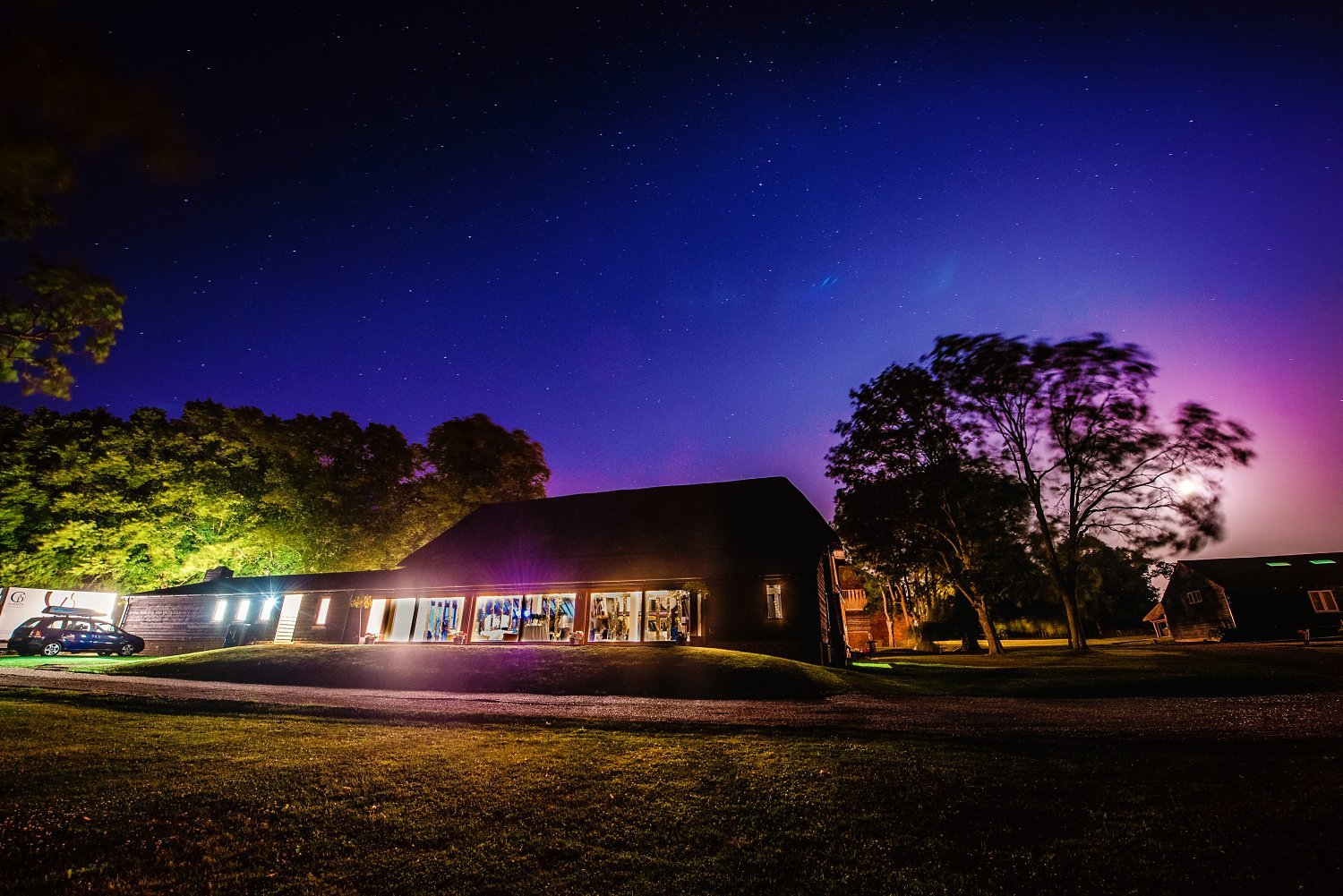 Colville Hall Weding Photographer - wedding venue at night