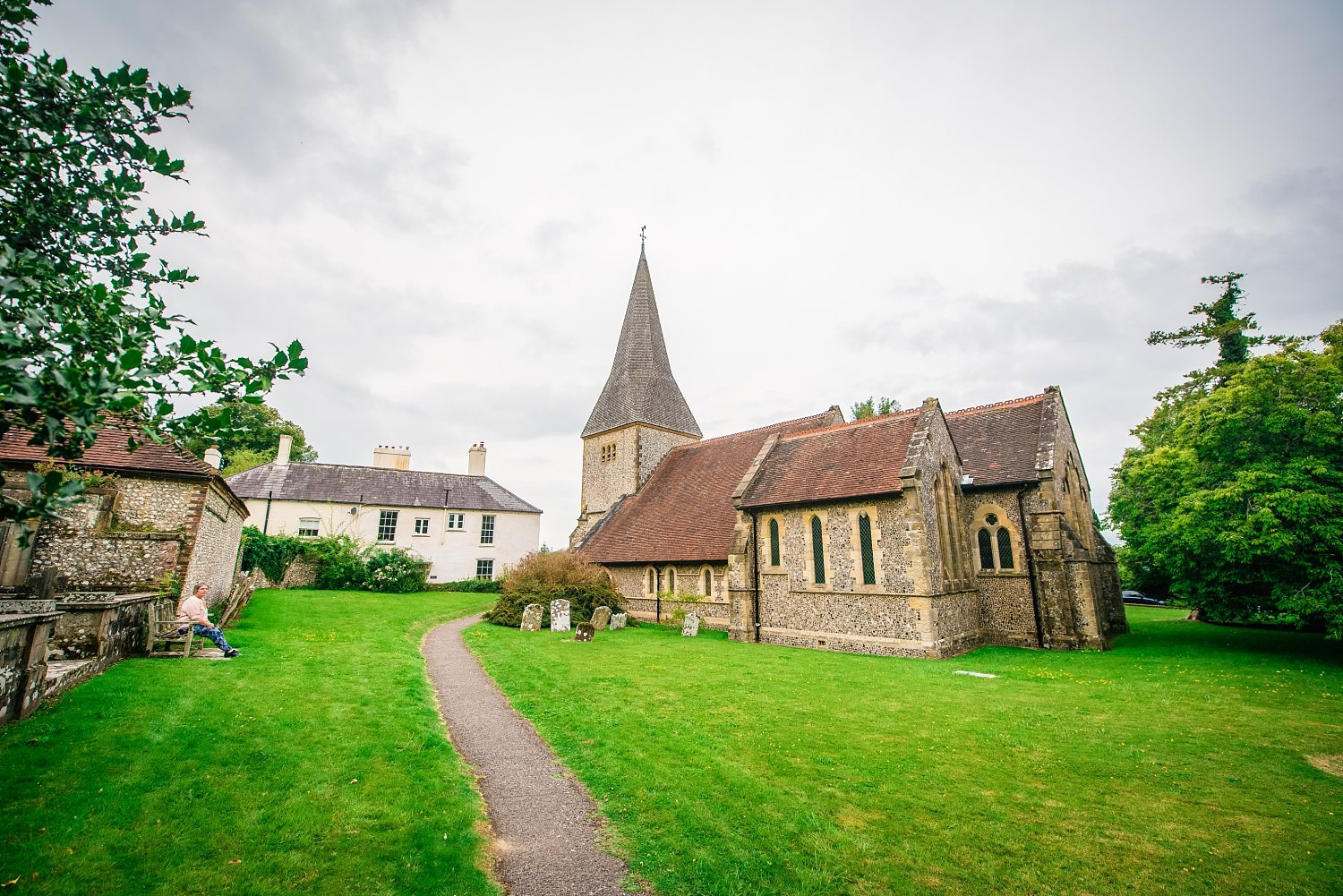 Duncton Mill Fishery Wedding - church where bride and groom got married