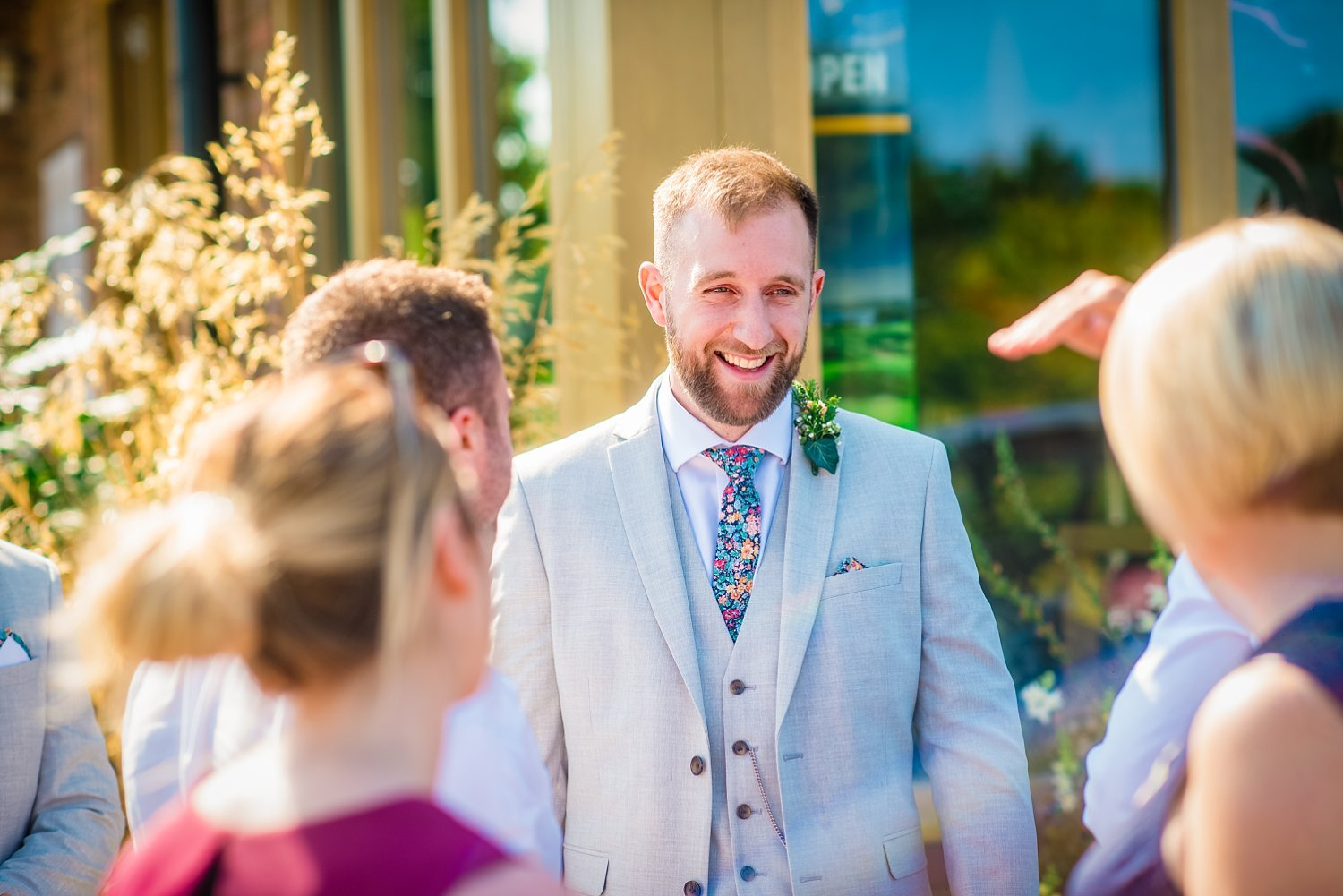 Farnham Wedding Photographer - groom is smiling